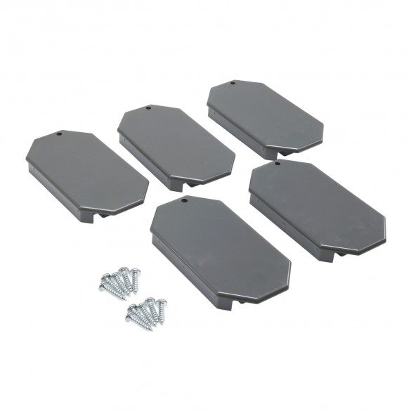 EKS02 - Magnetic AutoControl Gray VarioBoom 5 End Caps With 10 Screws