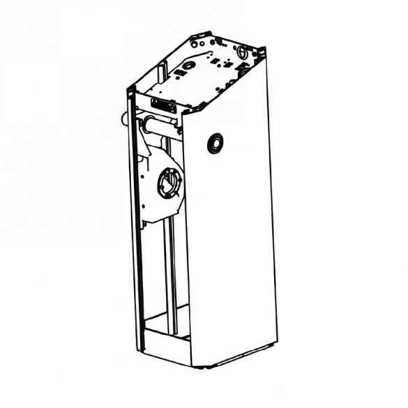 Magnetic AutoControl Tall MicroDrive Housing for -H Gates (White) - 2061.004H