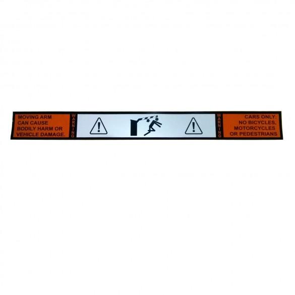 Gate Arm Warning Label