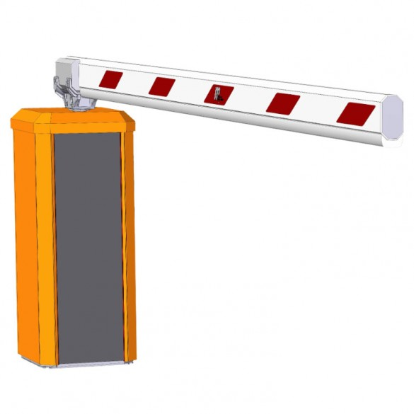 Magnetic Traffic H1SE-SC01200 Horizontal Barrier Opener w/ 12ft Boom (Orange