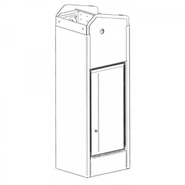 Housing Base for MBE (RAL9010 - White) - Magnetic AutoControl 2061.5081