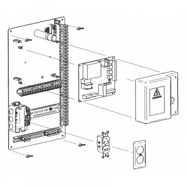 Mounting Plate with Controller for MBE - Magnetic AutoControl 1031.5241