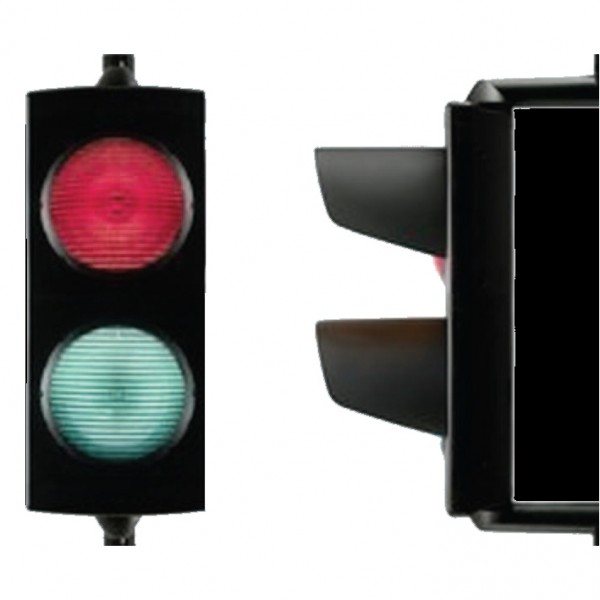 24V LED Red and Green Signal Light w/o Mounting Bracket - Magnetic AutoControl SIGNAL2-24L-RG